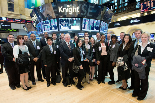 La Salle Students Spend Day on Wall Street