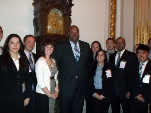 Students Visit Reginald Browne, '93, Managing Director at Knight Equity