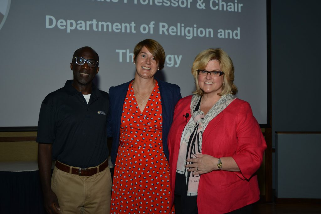 Br. Ernest Miller, Maureen O'Connell, and Colleen Hanycz
