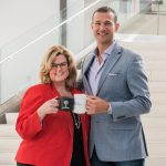 La Salle University President Colleen M. Hanycz and Saxbys Founder and CEO Nick Bayer