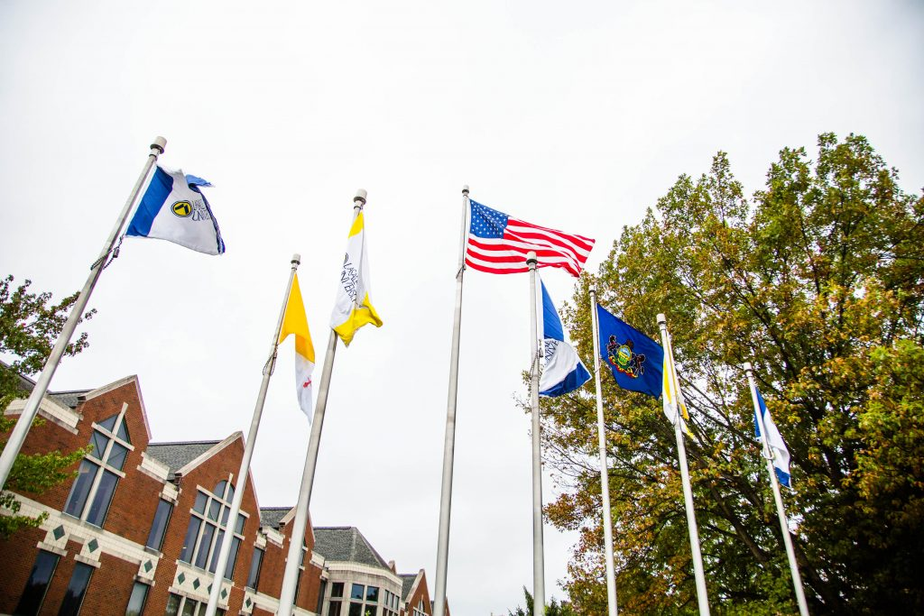 Flags at La Salle