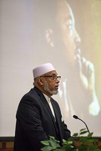 Imam speaking at MLK Day