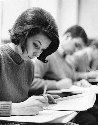 Female students in class at La Salle in 1967