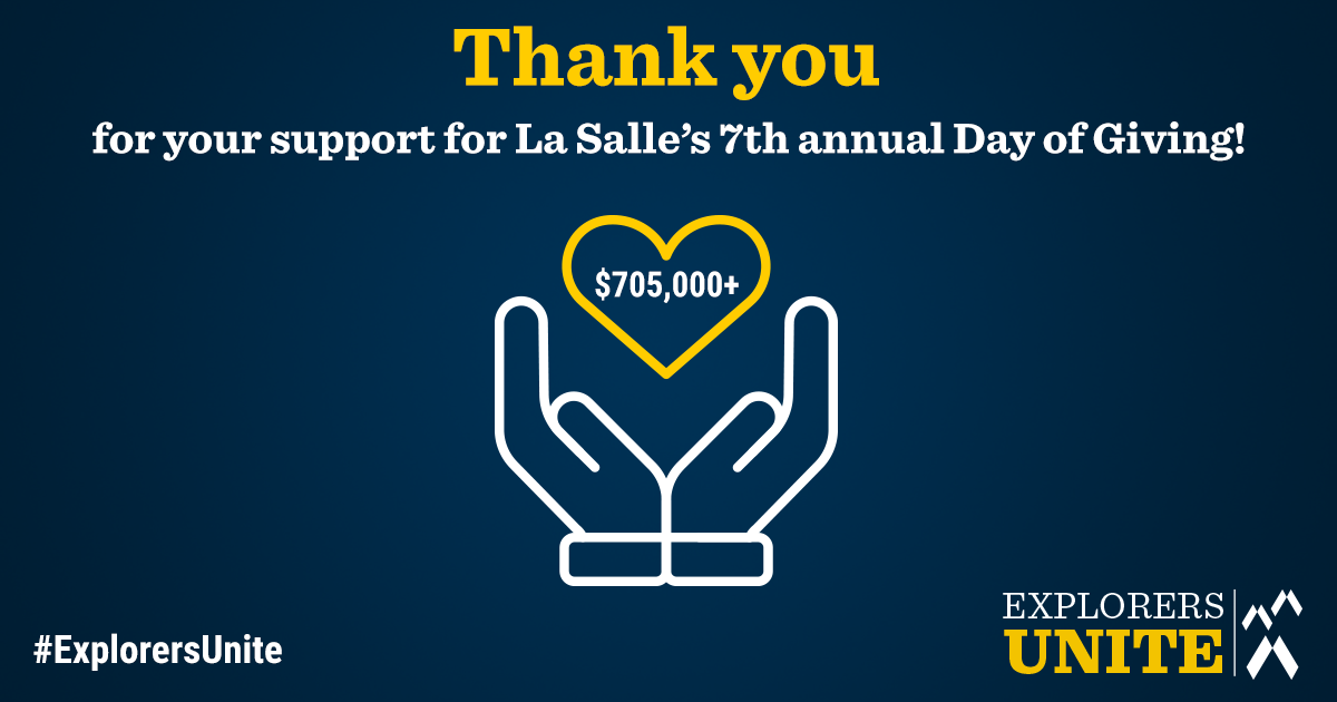 Thank You for your support for La Salle's 7th annual Day of Giving!