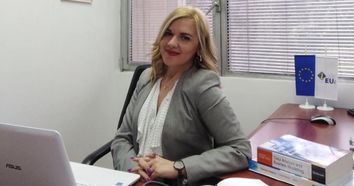 "Image of Violeta ""Vicky"" Cvetkoska, visiting scholar at La Salle University's School of Business."