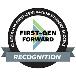 Image of the Center for First-Generation Student Success First-Gen Forward award logo.