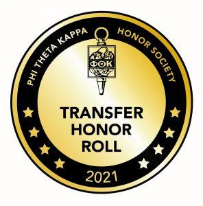 Image of Phi Theta Kappa's Transfer Honor Roll designation logo