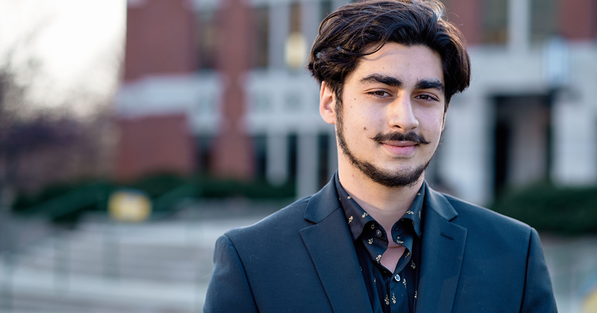 Image of Adam Al-Asad, a graduating senior at La Salle University