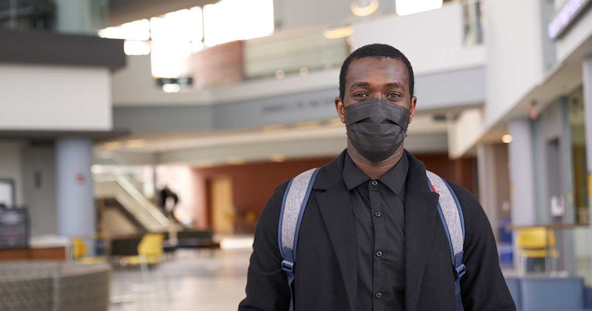 Image of Faysal Faroik Coulibaly, '21, a transfer student at La Salle University.