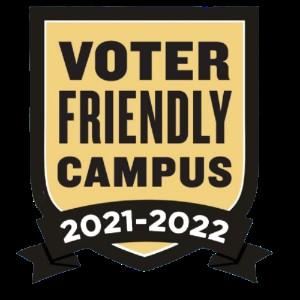 Image of logo celebrating La Salle University's status as a Voter Friendly Campus