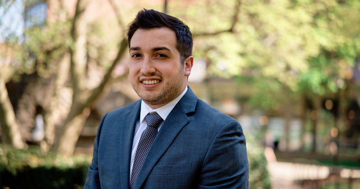 Image of La Salle University student Nick DiGregorio