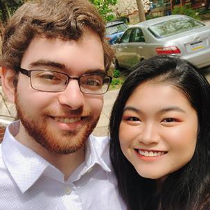 Image of La Salle University student Lam Doan with her husband, Conrad Jones.