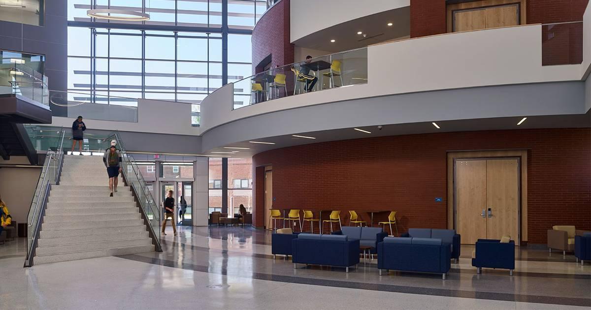 Interior shot of La Salle University's School of Business