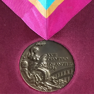 Image of Diane Moyer's bronze medal from the 1984 Summer Olympics