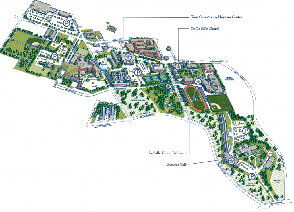 La Salle Campus Map Campus Map | Presidential Inauguration of Colleen M. Hanycz, Ph.D