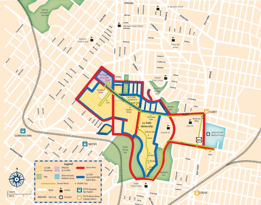 la salle university campus map Services Public Safety la salle university campus map
