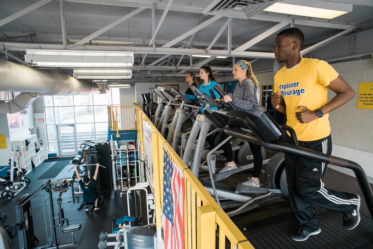 fitness center treadmill