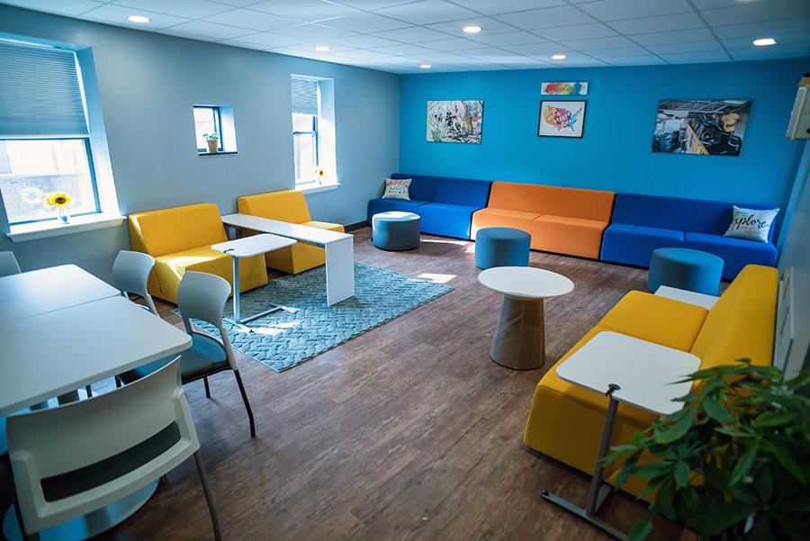 Wellness and Mindful Living lounge