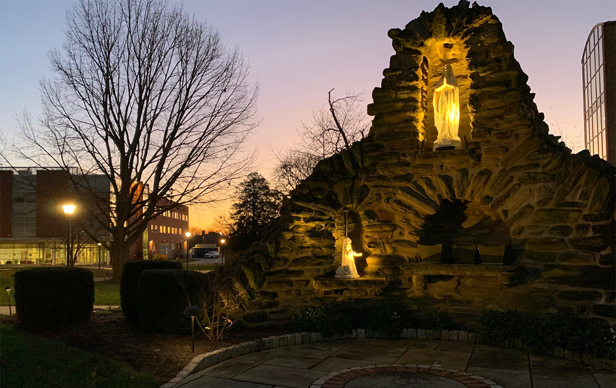 Grotto and Sunrise
