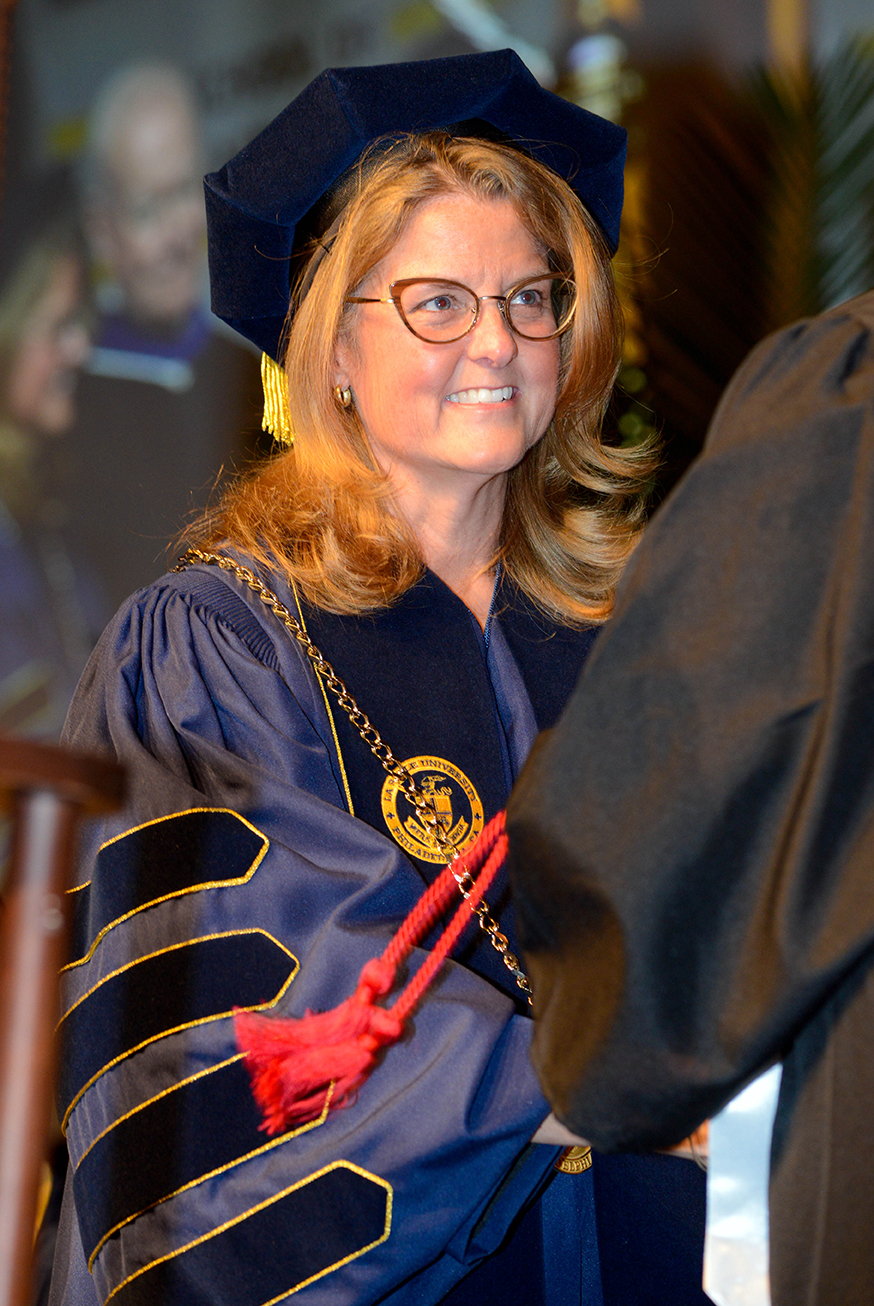 President Colleen Hanycz at Commencement.