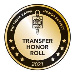 Phi Theta Kappa Honor Society Transfer Honor Roll