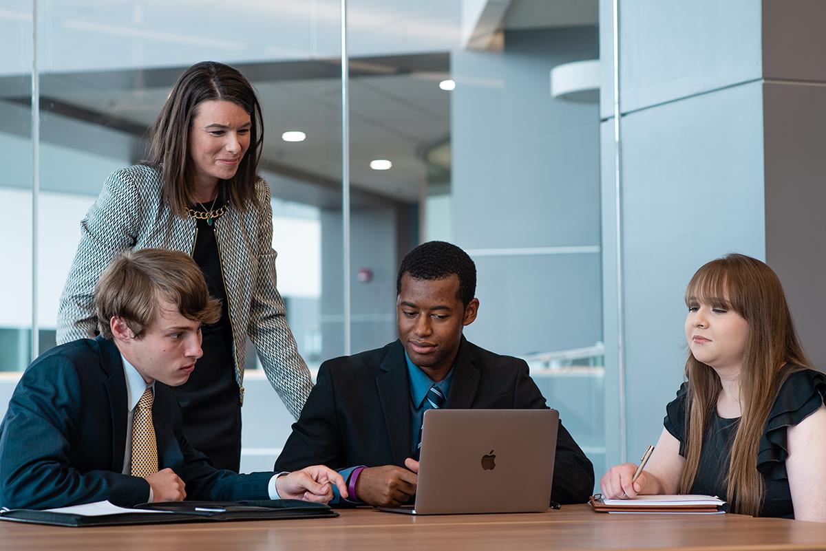 Sales Lab Team with Professor