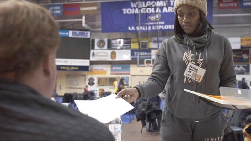 student undergoing poverty simulation