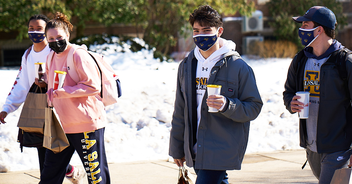 Day of Giving Students Walking