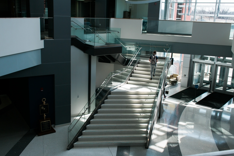 Business School interior, stairs